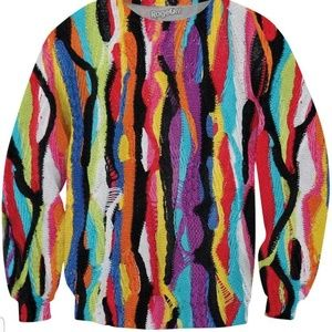 Other - 90s style polyester crew neck sweater